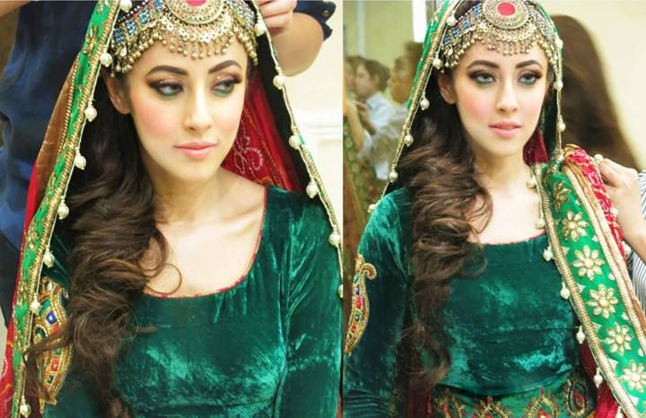 Mehndi Makeup And Hairstyle : Ainy jafferi mehndi function makeup look celebrity gossips