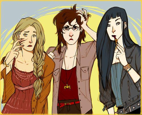 Genderswapped Marauders Getting Ready For Some Muggle Party Night In Front Of The Mirror Give Up Harry Potter Pictures Fem Harry Potter Harry Potter Fan Art