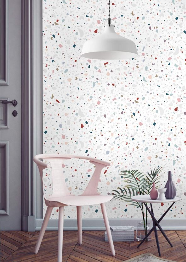 Inspiration terrazzo granit papermint papier peint plus