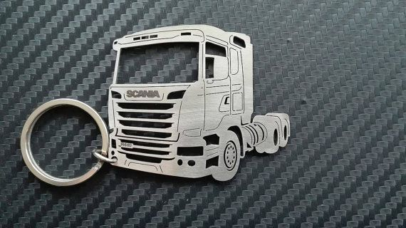 SCANIA Stainless Steel Keyring LARGE