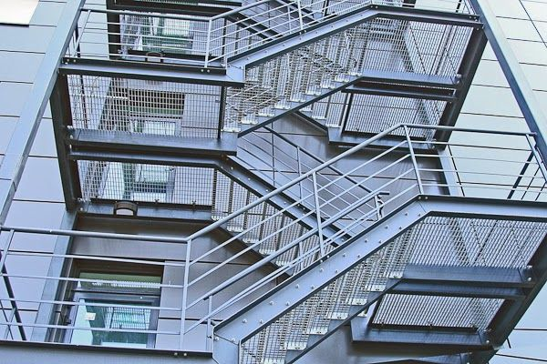 Stairway Fabrication Stairs Fire Escape Stairs Stringer   Steel Fire Escape Stairs   Architectural   Internal   Industrial   Emergency   Fire Exit