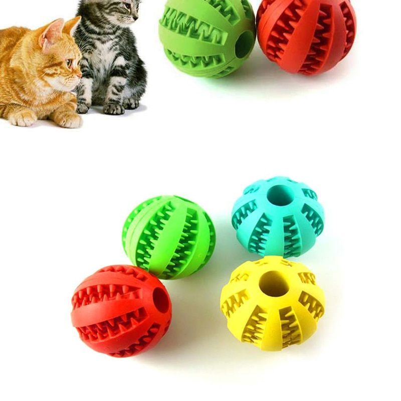 Anpro 5cm Stretch Natural Rubber Leaking Ball Pet Cat Dog
