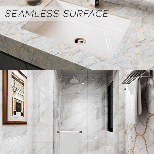 Marble Contact Paper Self Adhesive Decorative Granite Vinyl Film Peel Stick Wallpaper For Kitchen Countertop Marble Wallpaper Wallpaper Decor Wallpaper Edge