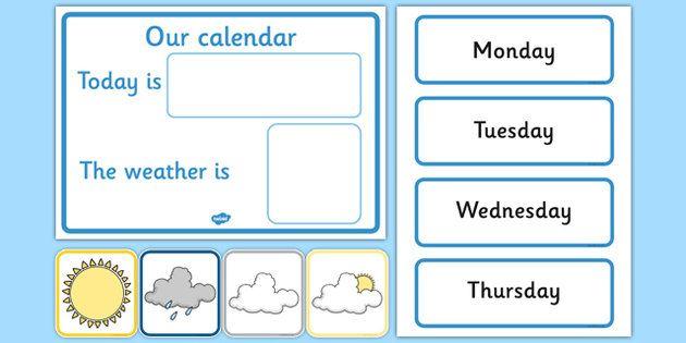 Children S Calendar Weather Chart : Free daily calendar weather chart