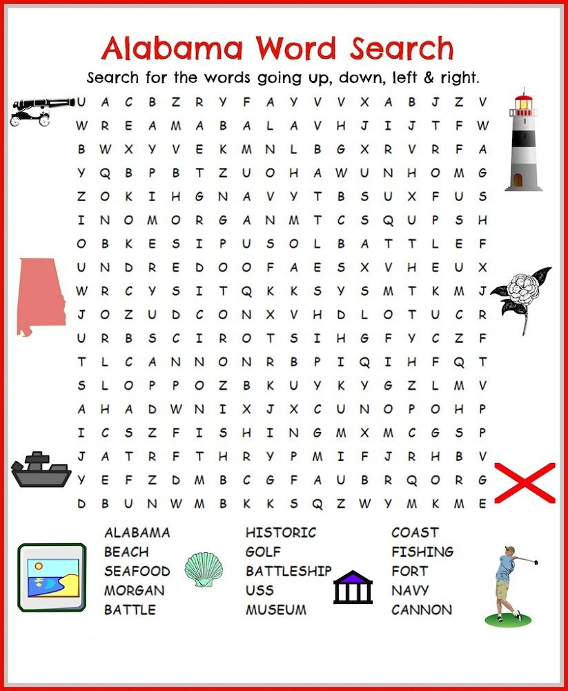 Word Search For Children Printable With Images Beach Words