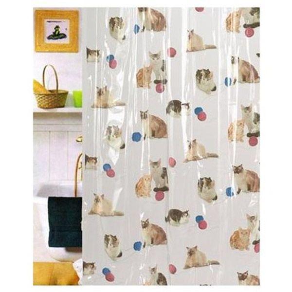 Cat Vinyl Shower Curtain