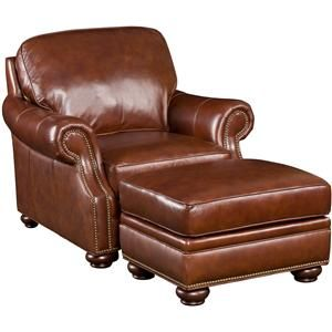 Fantastic Ss185 Brown Leather Chair Ottoman Combo By Seven Seas Spiritservingveterans Wood Chair Design Ideas Spiritservingveteransorg