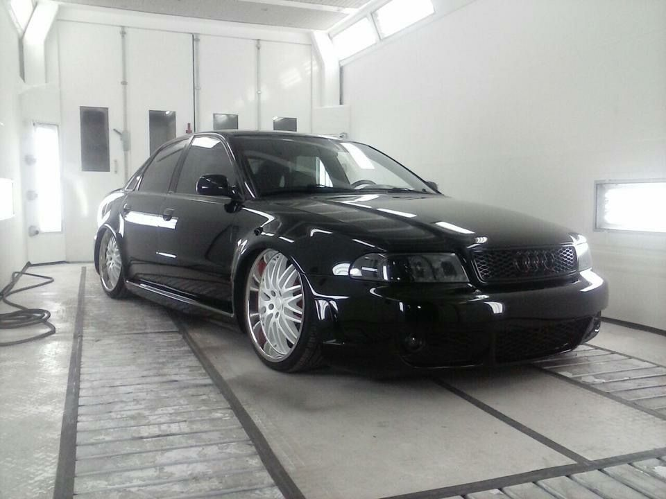 Audi A4 B5 Slammed Lowered Accuair Bagged Stance Black On Black Custom Rims Modified Audi S4 Audi A4 Audi