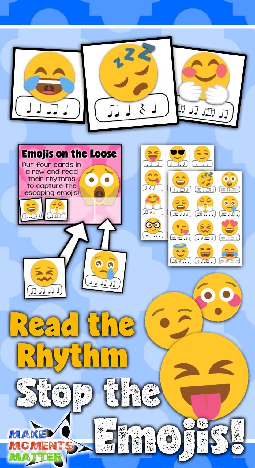 Read The Rhythm To Stop The Emojis Rhythm Centers In 2020 Teaching Music Elementary Music Education Rhythms