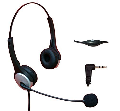 Voistek Corded Binaural Call Center Telephone Headset Noise Cancelling Headphone With Flexible Microphone For Cisco Linksys Polycom Panasonic Office Deskphone D Noise Cancelling Headphones Wireless Headphones For Running Cell Phone Headset