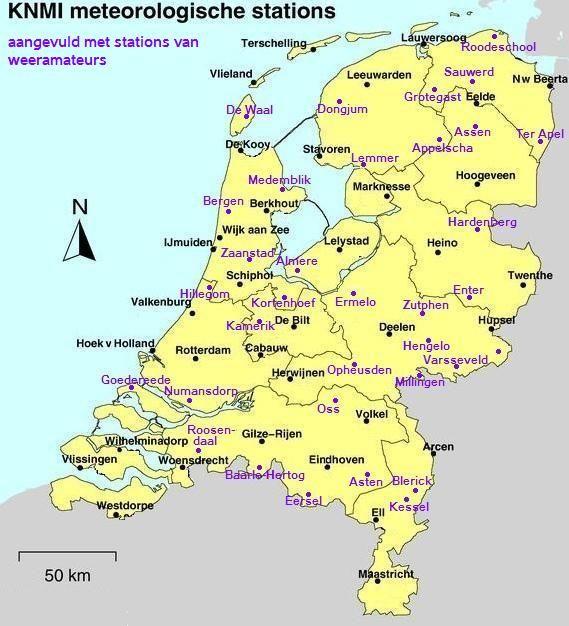 Knmi Meteorologische Stations Beerta Kaarten Berkhout