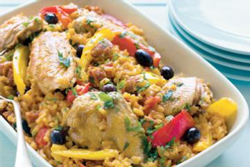Spanish Chicken Rice Casserole