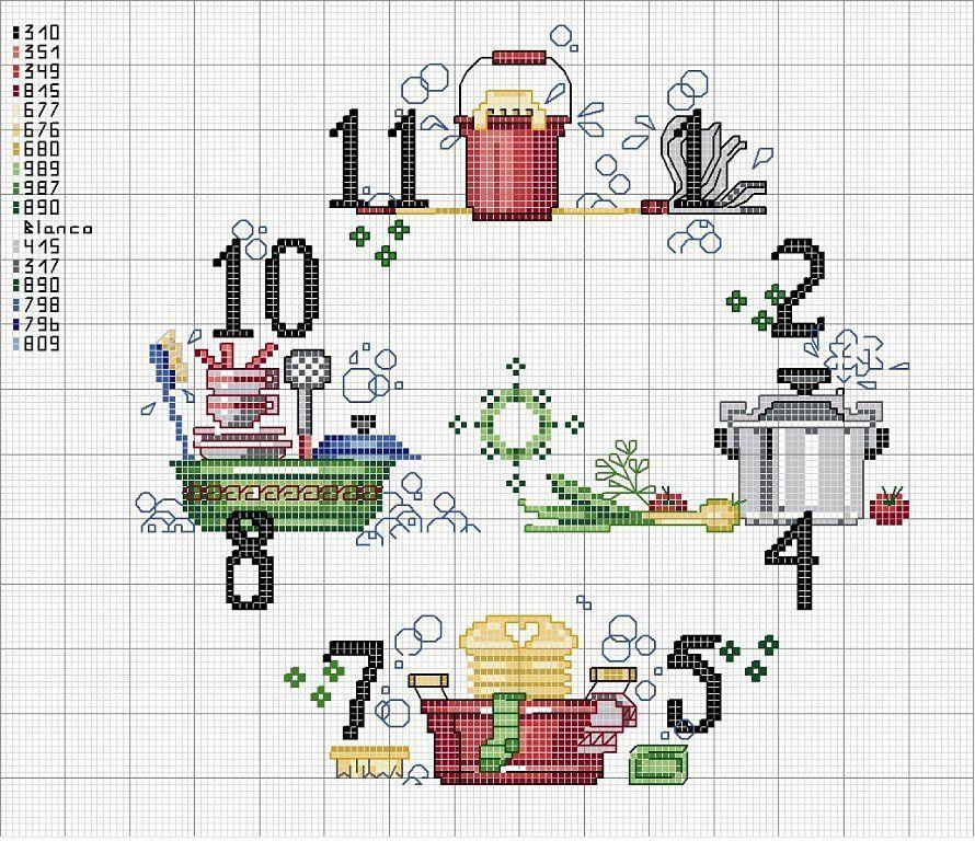 Relojes en punto de cruz   Pinterest   Es facil, Reloj y Punto de cruz