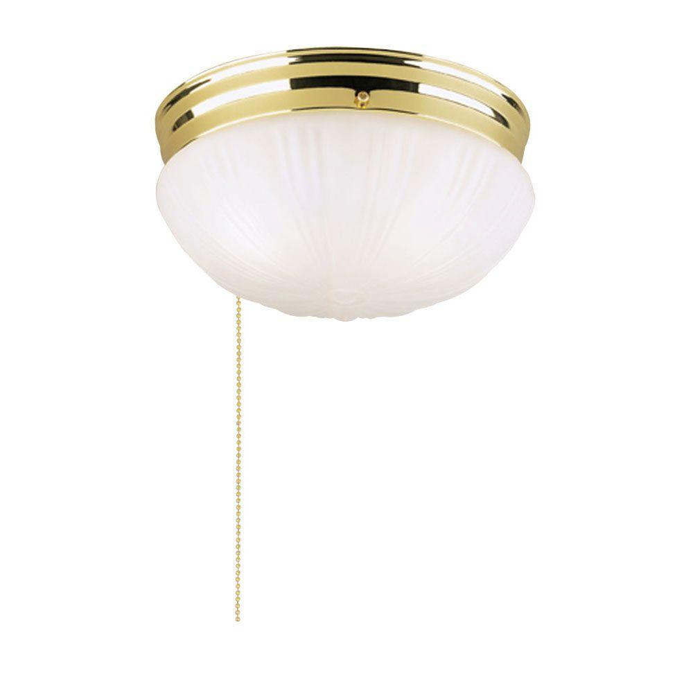 Ceiling Mount Light With Pull Chain Pleasing Westinghouse 2Light Polished Brass Interior Ceiling Flushmount With Design Ideas