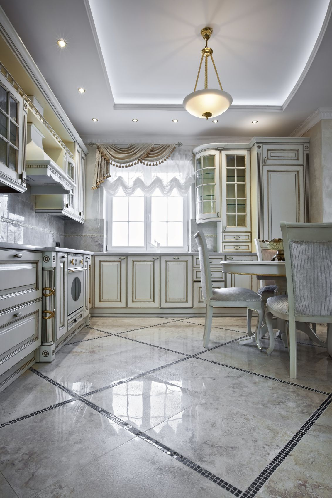 425 white kitchen ideas for 2018 ceiling detail marble floor and intricate white cabinetry with overlaid gold and filigree stands out in this opulent kitchen replete dailygadgetfo Gallery