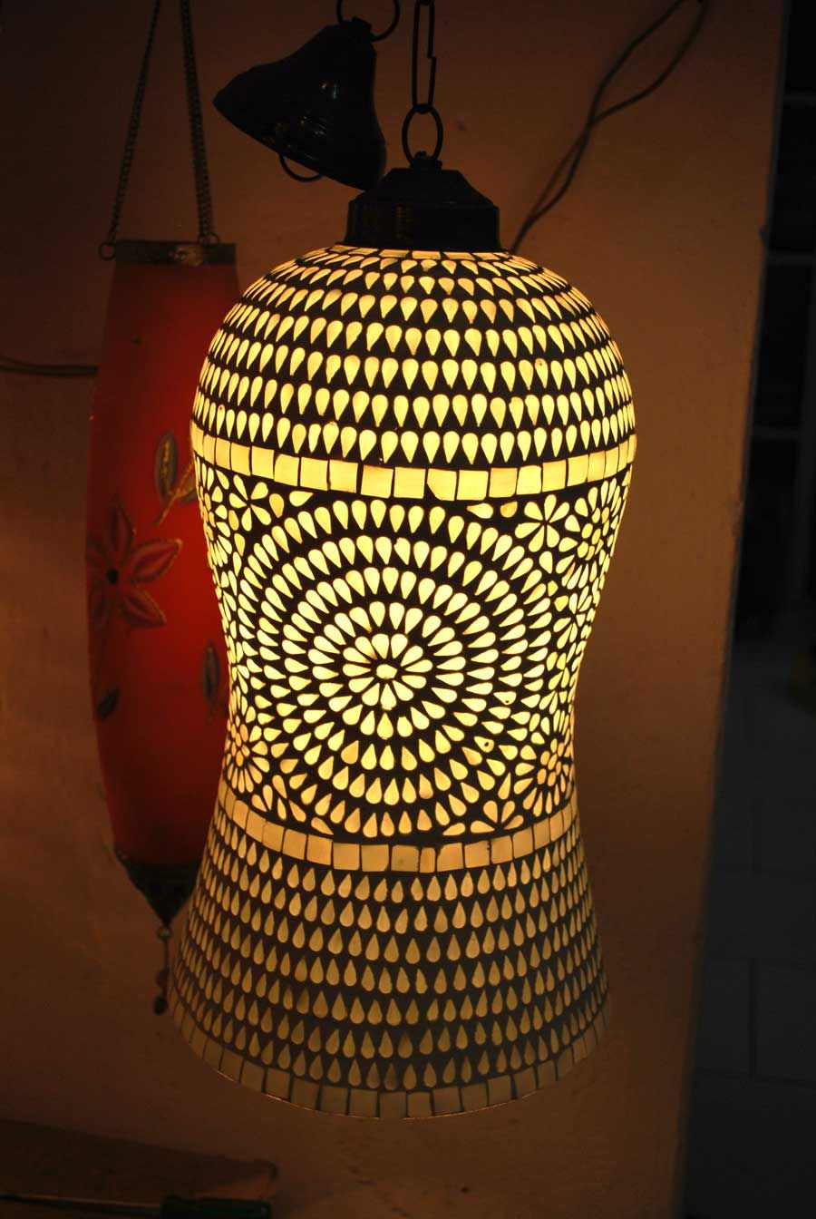 Indian Handmade Glass Lamp Shades Photo, Detailed about