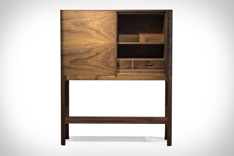 art deco walnut tambour front 1930s cocktail cabinet bar pinterest 1930s deco and tambour