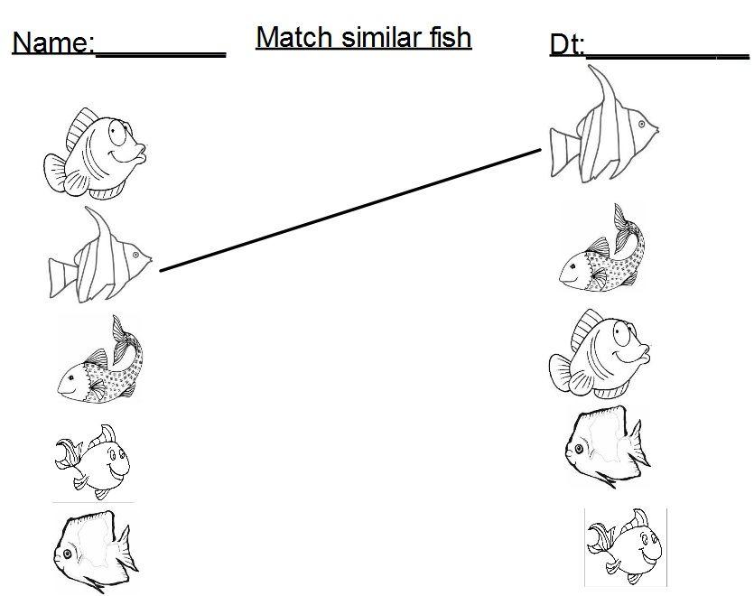 Pin By Deb Thompson On Preschool Activities13 Fish Activities Preschool Worksheets Ocean Themes