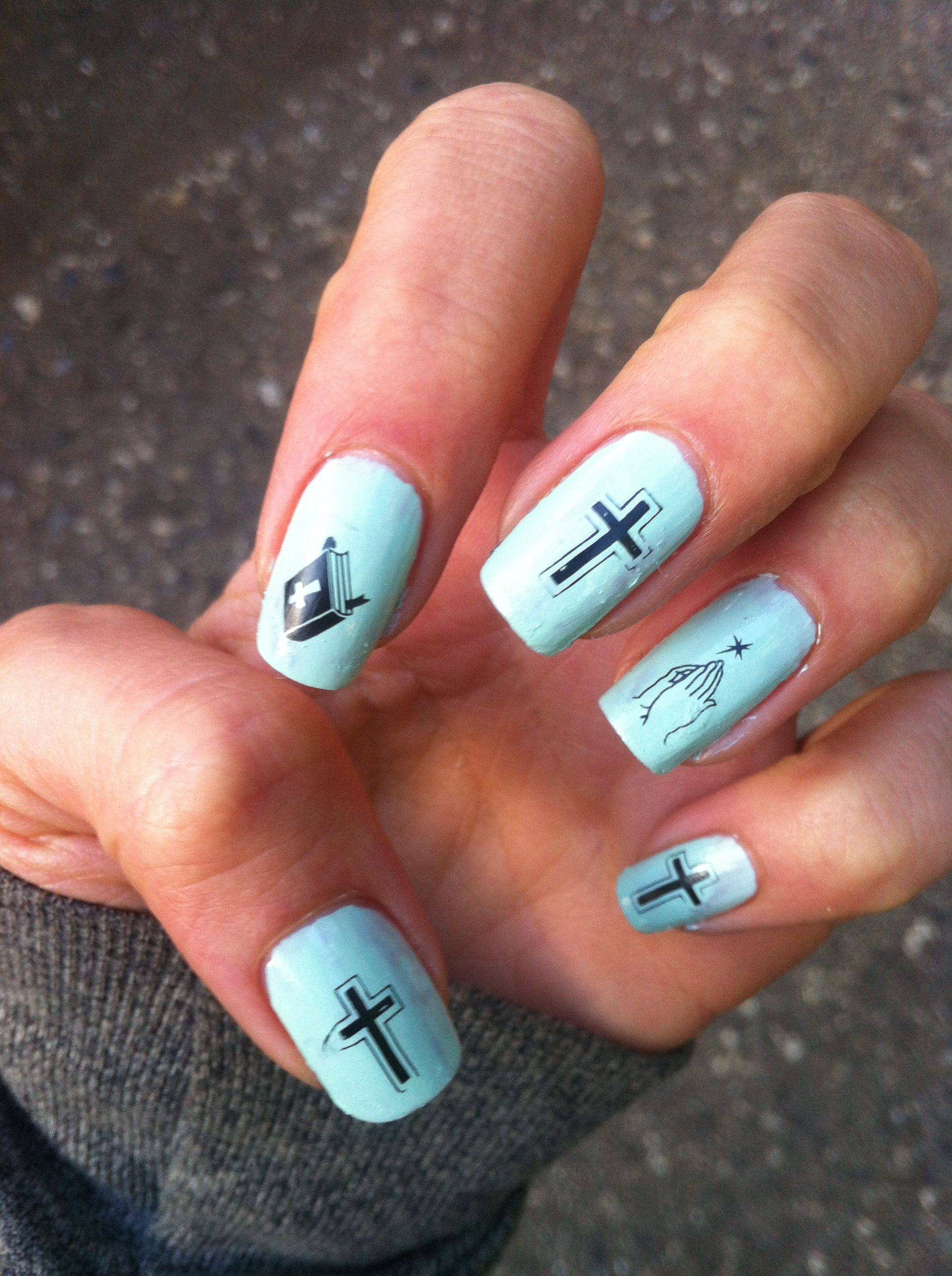 my sweet baby jesus nails // nail stamp | Nails | Pinterest | Nail ...