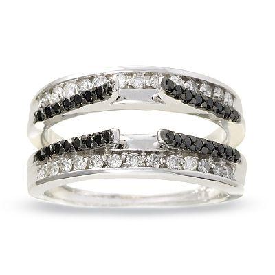 Enhanced Black And White Diamond Wrap Guard In Gold Gordon S Jewelers