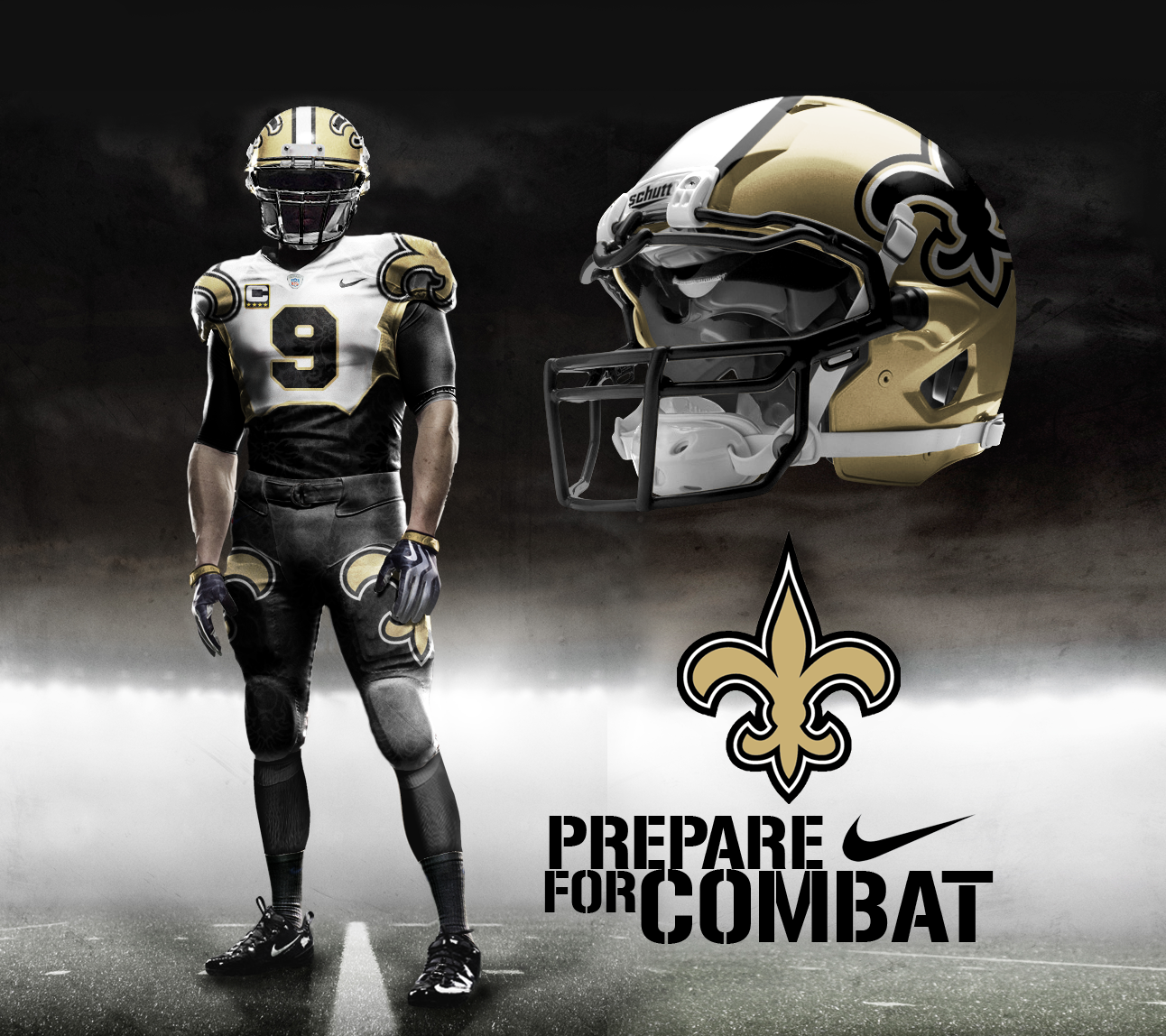 55913fe6b ... Jersey New Orleans Saints Nike Pro Combat Away Alternate Uniform New  Orleans Saints Away Alt ...