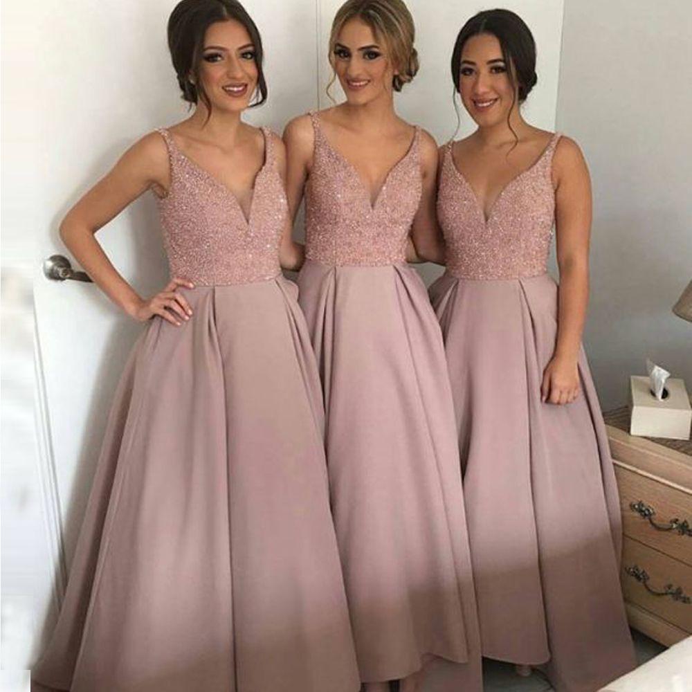 Aliexpress.com: Compre Vestido de Festa Com Decote Em V Uma Linha de ...