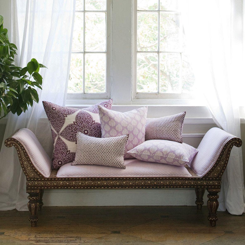 John Robshaw Bindi Mali Lavender Decorative Pillow