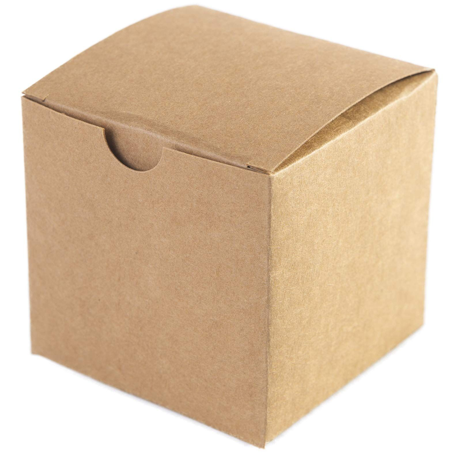 100pcs Kraft Favor Boxes3x3x3 Inches Brown Paper Gift Boxes With Lids For Gifts Crafting Cupcake Boxes Brown Gift Boxes With Lids Paper Gift Box Paper Gifts
