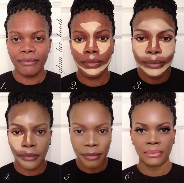 contouring for African American woman Fav #makeup #ohmyglamm visit ...