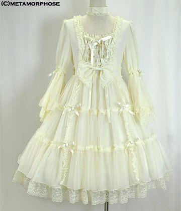 Princess Sleeve Babydoll Dress (Koshibo Chirimen)