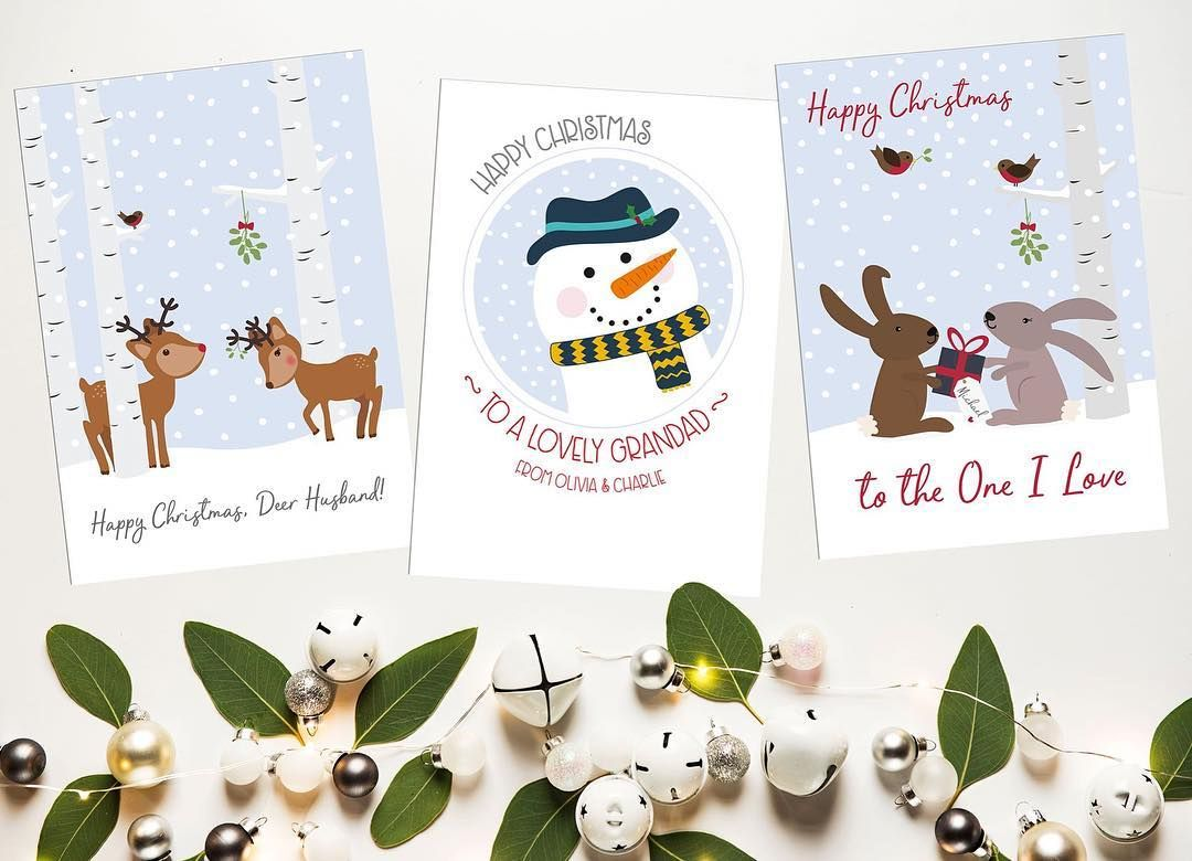 Personalised Christmas cards a-plenty over in my #etsy store ...