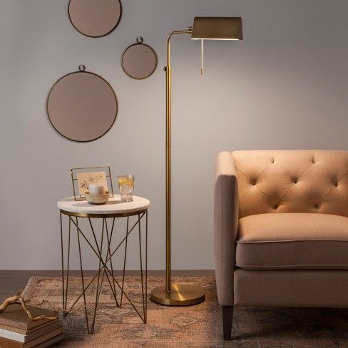 Brass Library Floor Lamp Hearth Amp Hand With Magnolia Target With Images Floor Lamp