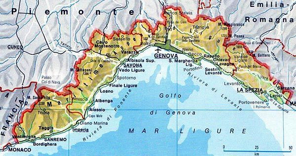 Map Of Liguria Tuscanyagriturismogiratola Mappa Dell Italia