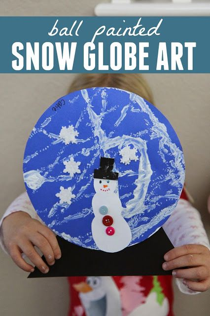 Ball Painted Snow Globe Craft