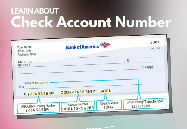 Check Account Number Learn about how to identify check