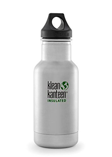 12-Ounce, Winter Lake Green Loop Cap Klean Kanteen Insulated Stainless Steel Water Bottle 12-Ounce