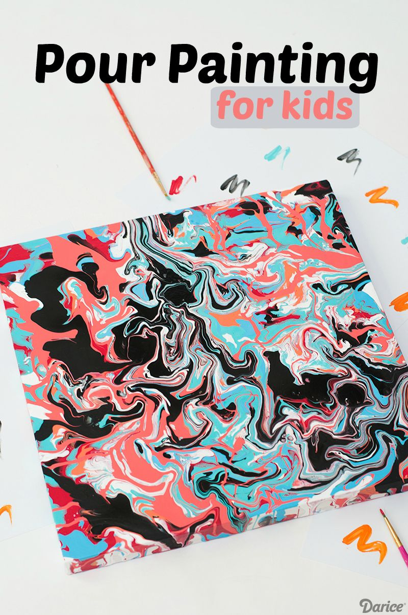Painting Ideas For Kids Easy Pour Painting Darice Kids Art Projects Painting For Kids Art And Craft Videos