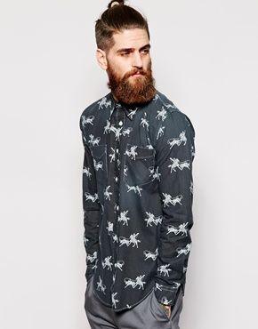 Levi's+Vintage+Clothing+Shirt+Slim+Fit+Rodeo+Print