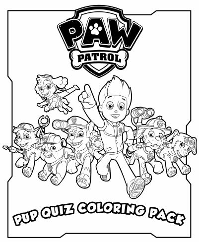Paw Patrol Free Printable Pup Quiz Coloring Pack Paw Patrol Coloring Pages Paw Patrol Coloring Paw Patrol Characters