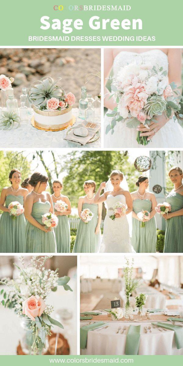 Green Bridesmaid Dresses Sage Green color #sagegreenbridesmaiddresses