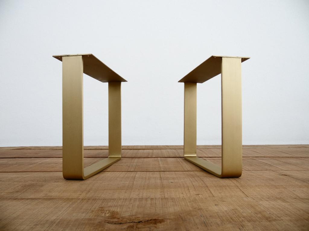 16 Flat Brass Table Legs Brass Table Legs Steel Table Legs Metal Table Legs