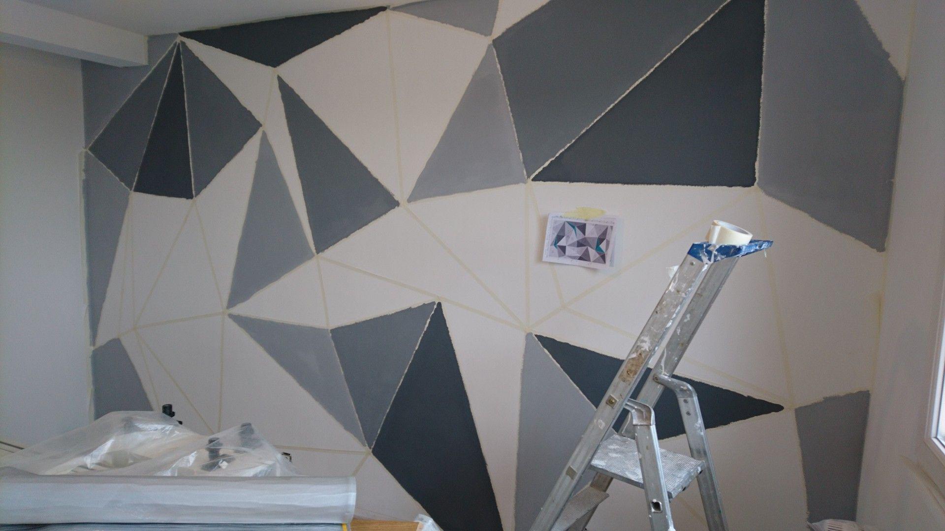 Peindre Triangle Sur Mur peinture triangle mur chambre deco | deco, peinture, triangle