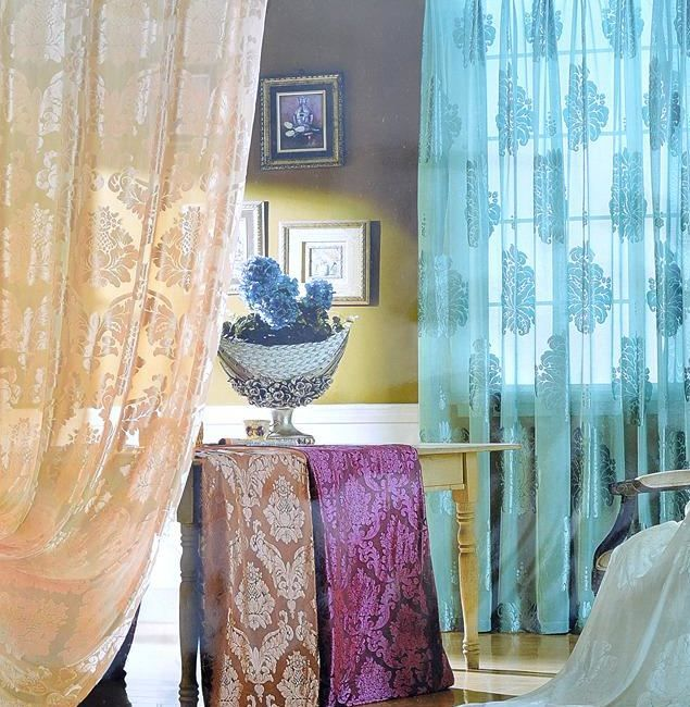 You saved to Velvet Curtains & Drapes Damask Burnout Velvet ...