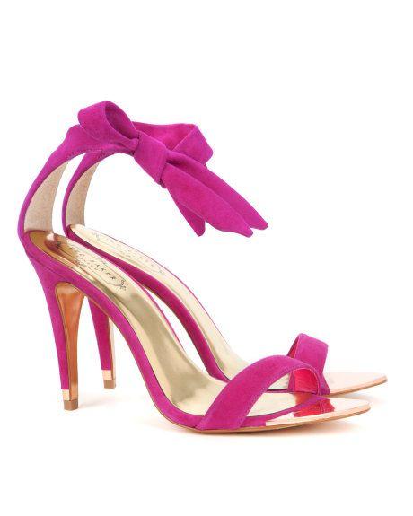 9b037ee11 Pink ankle tie heel
