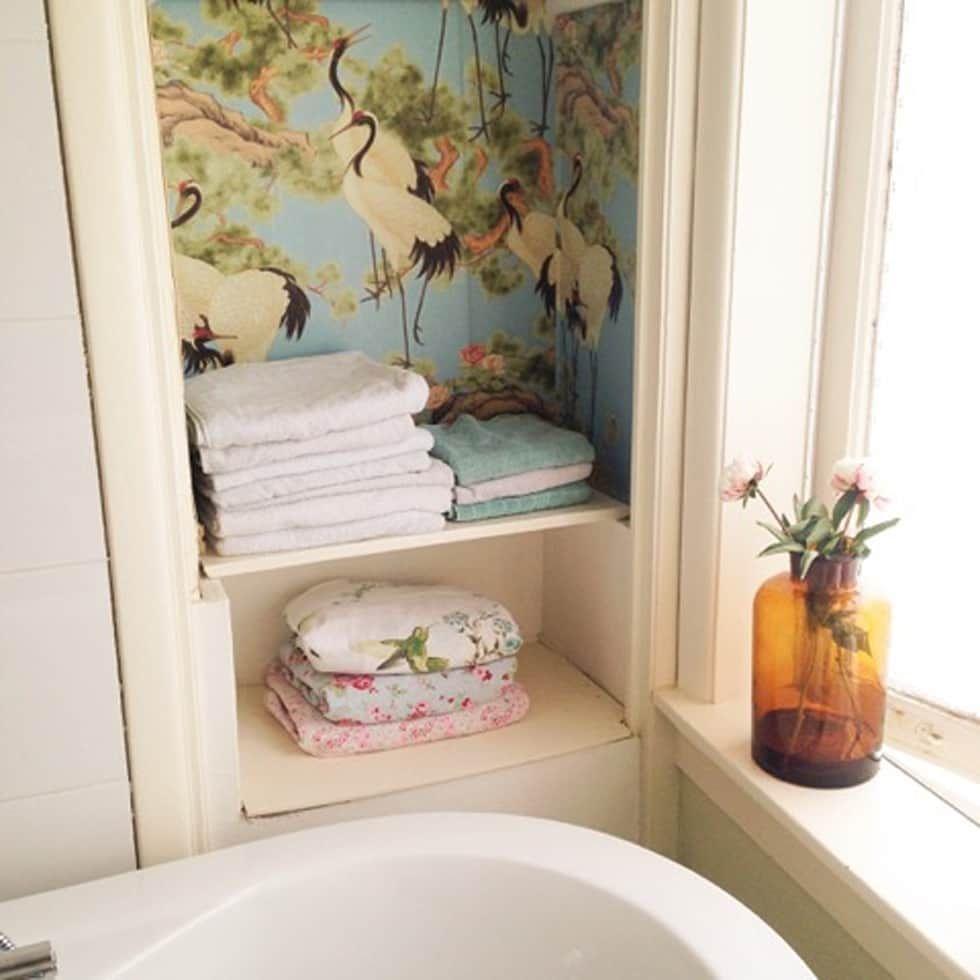 foto s van een rustieke brocante badkamer voorbeelden