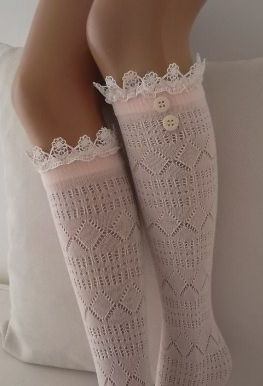 ee5245c9b6a Powder Winter Fishnet lace boot socks