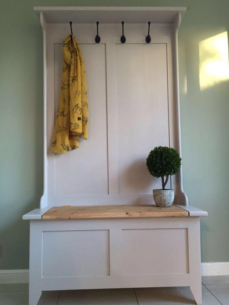 Hall Stand Coat Rack Seat Settle Bespoke Handmade Pine