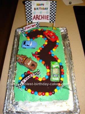 Coolest Cars 3rd Birthday Cake Birthday cakes Birthdays and Cake