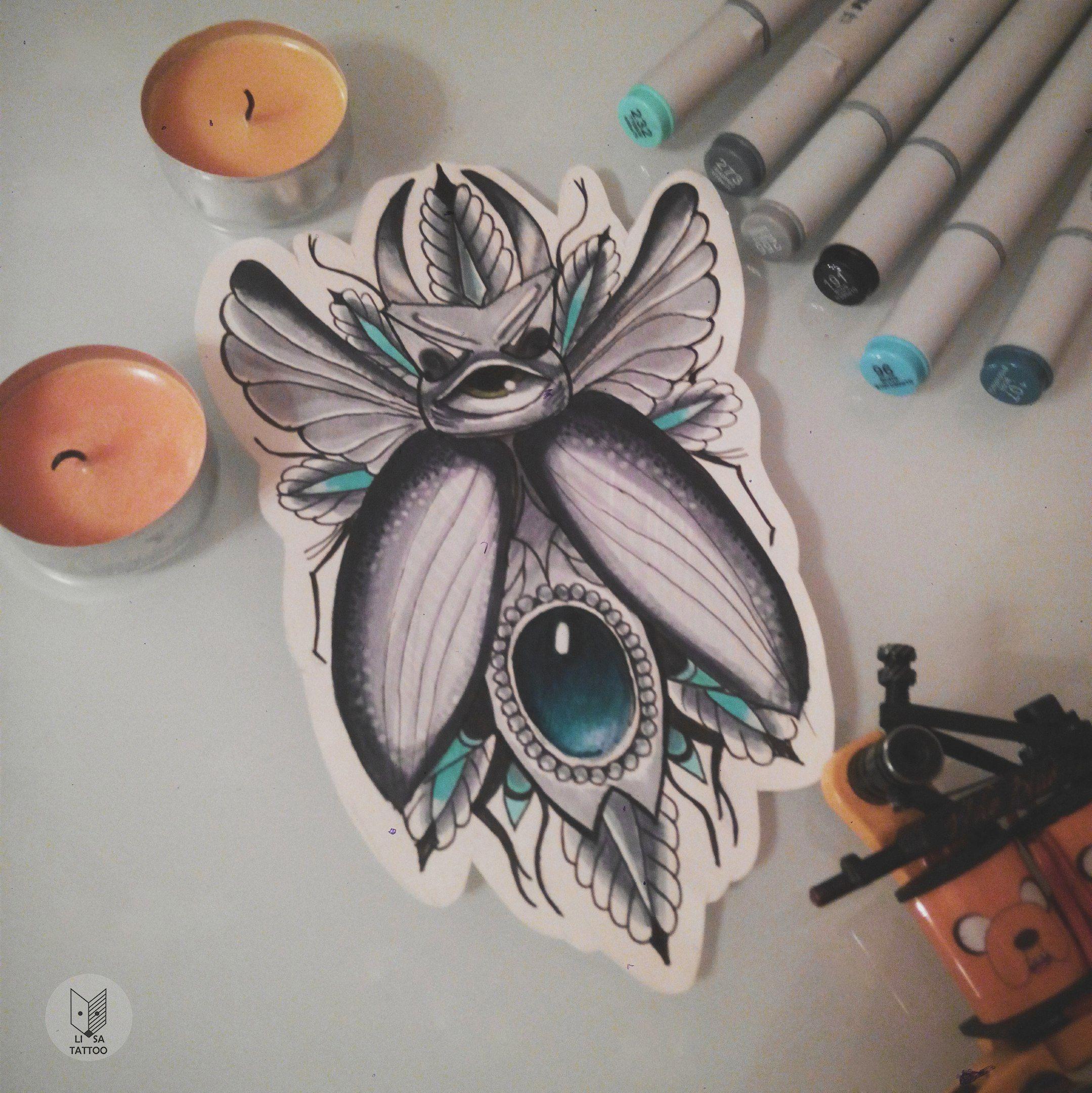 Neo Traditional Bug/nature Tattoo