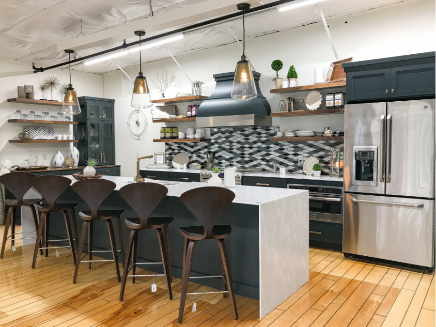 Modern Kitchen display in The Markket. Built in-house by ...